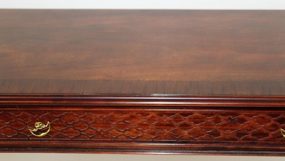 Century mahogany 3 drawer console - 4