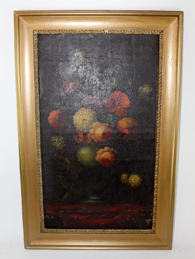 Oil on canvas stillife with flowers - 5