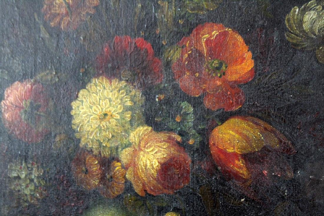 Oil on canvas stillife with flowers - 6