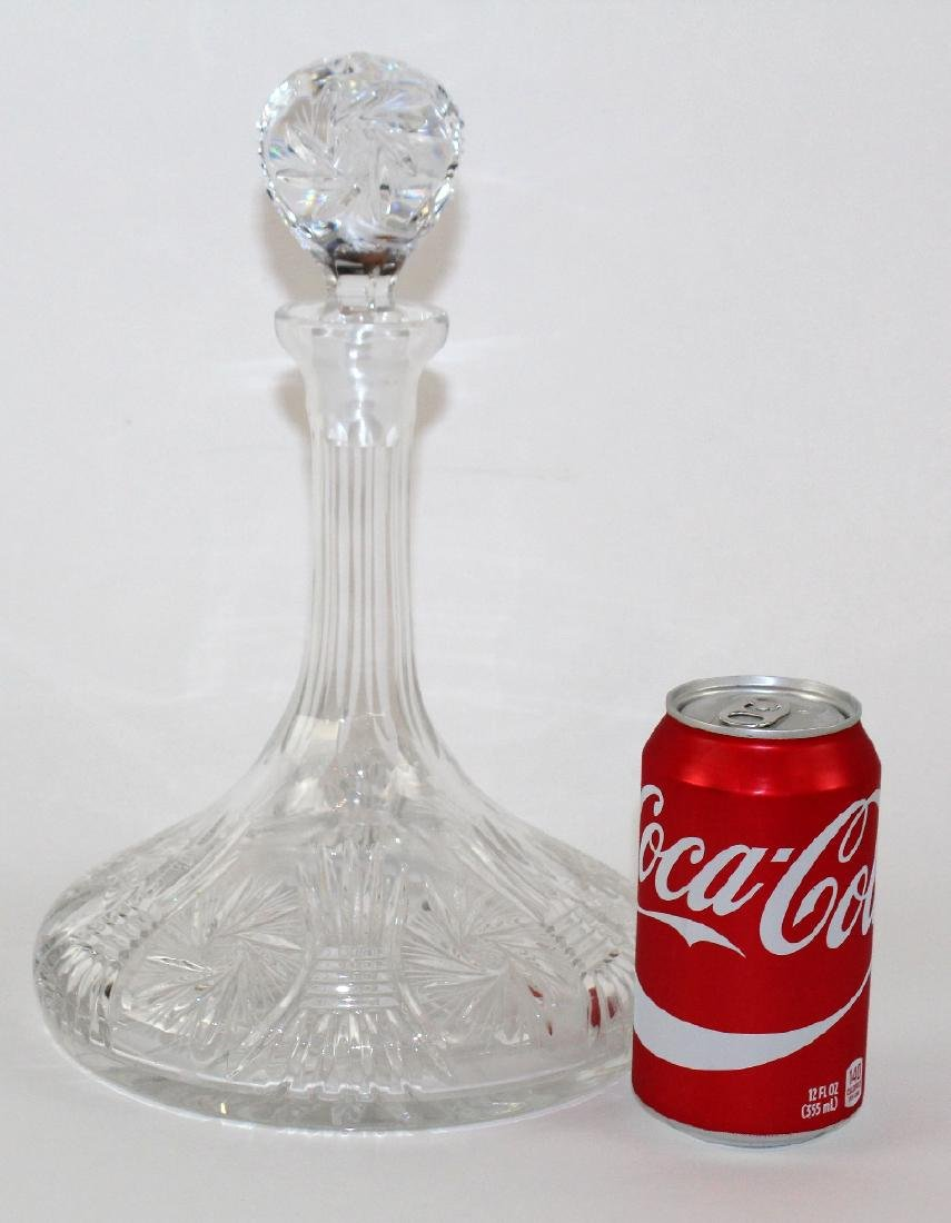 Cut crystal ship's decanter with stopper - 2