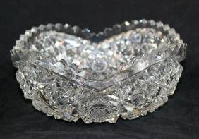 American brilliant cut crystal bowl