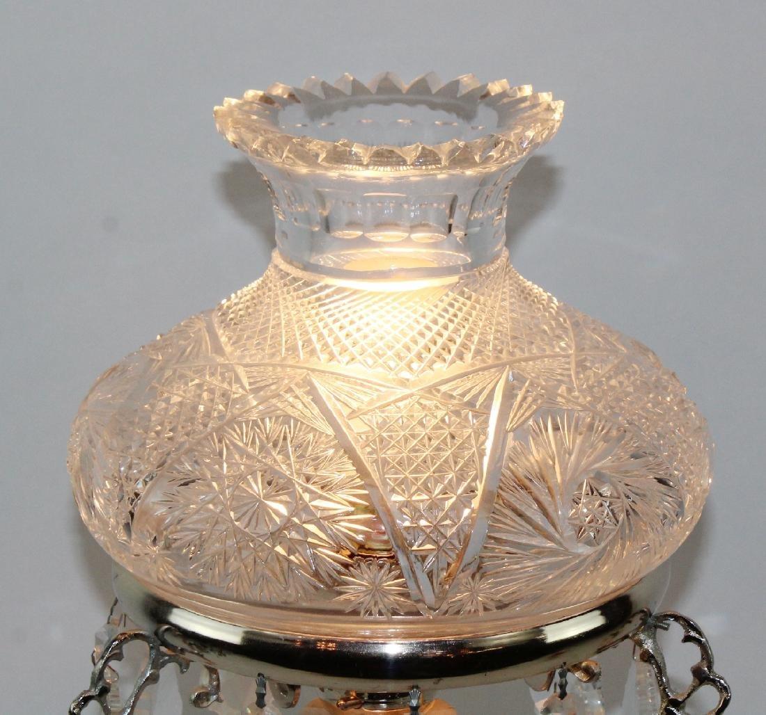 Cut crystal table lamp - 3