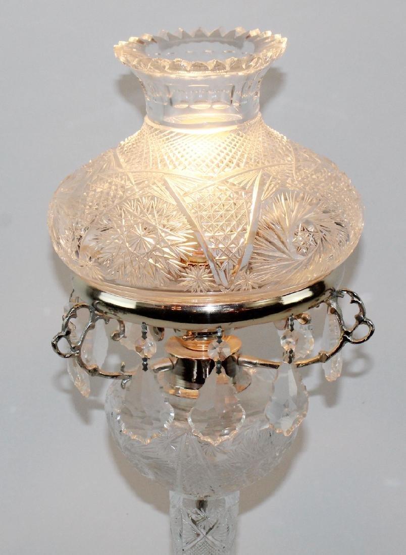 Cut crystal table lamp - 4