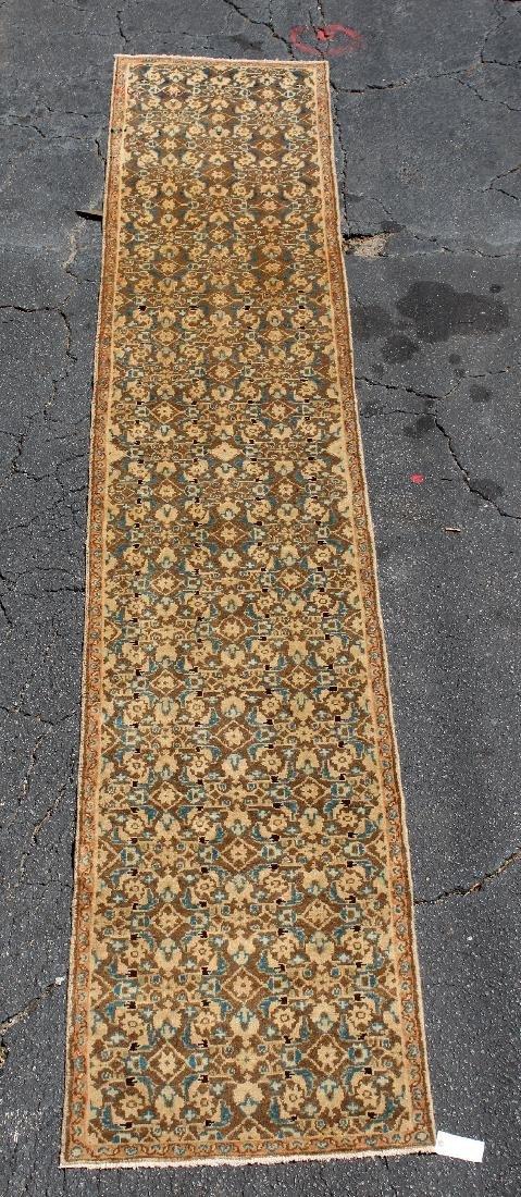 "2'6"" x 14'1"" Persian wool Hamedan carpet"
