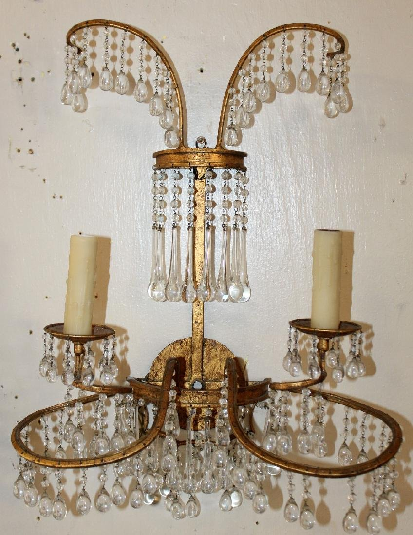 Pair of Venetian beaded wall sconces - 2