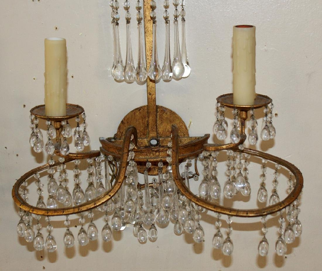 Pair of Venetian beaded wall sconces - 4