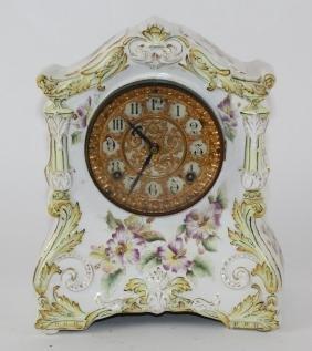 Accomac Ansonia porcelain mantel clock