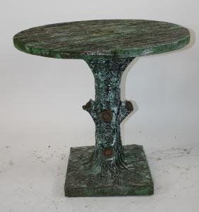 French faux bois round table with tree form base