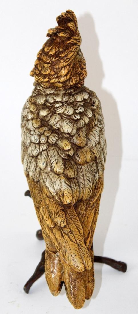Cold painted bronze Cockatoo sculpture - 2
