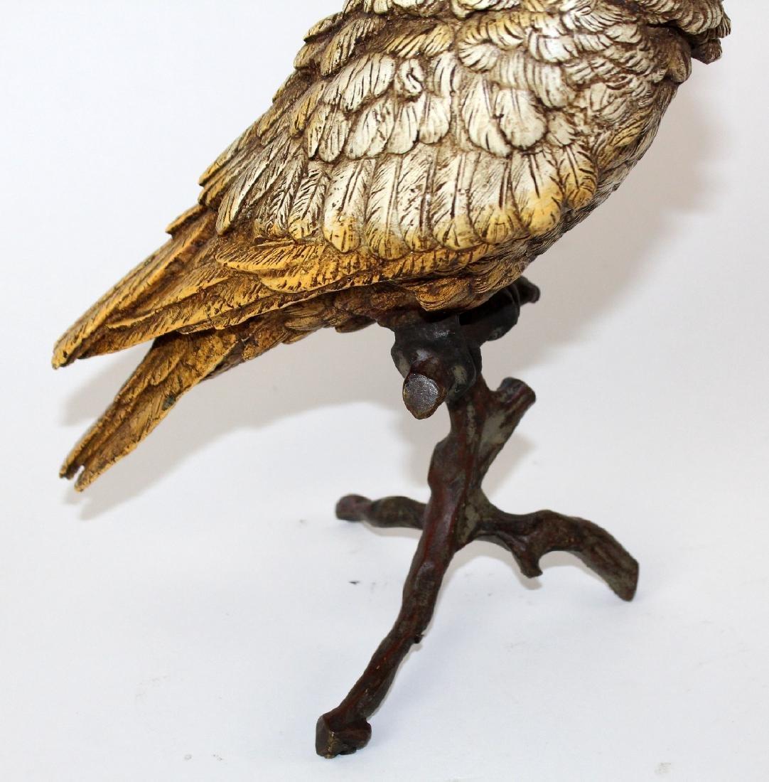 Cold painted bronze Cockatoo sculpture - 5