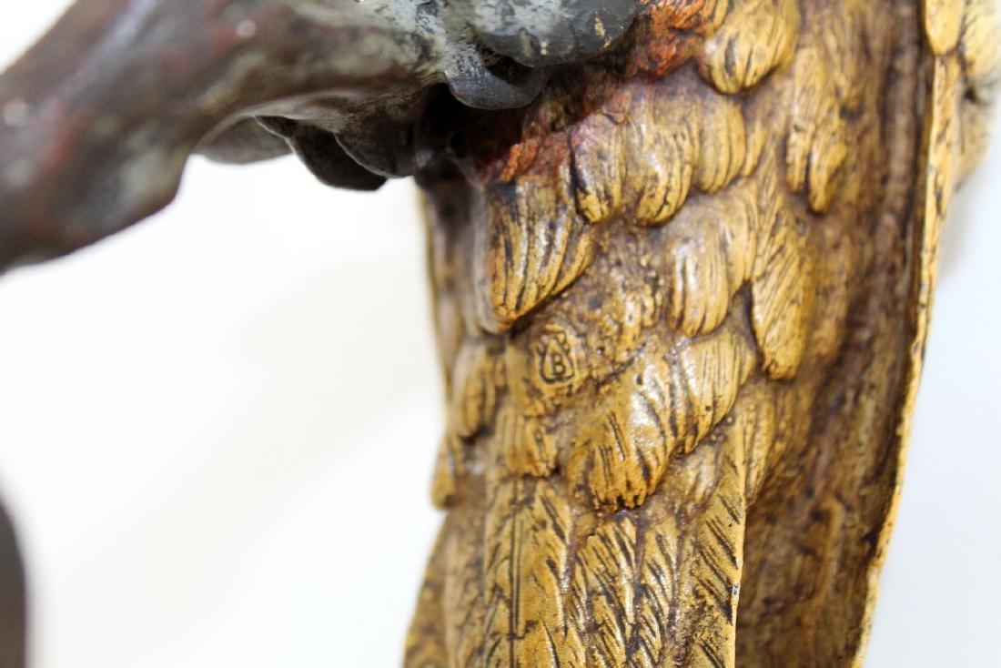Cold painted bronze Cockatoo sculpture - 6