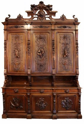 Palatial French 19th century hunt buffet