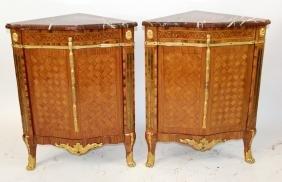 Pair 18th c French Louis XVI encoigneures