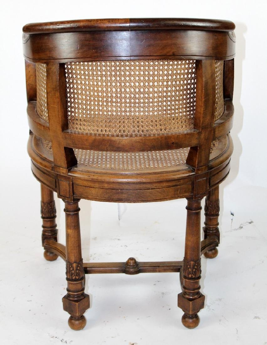 French walnut curved back & cane armchair - 2