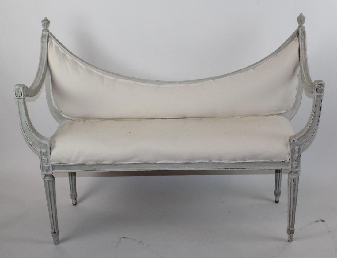 Painted Neo classical style bench - 3