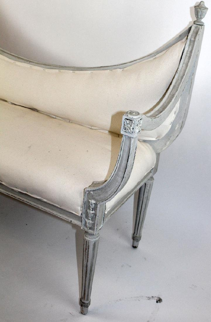 Painted Neo classical style bench - 4