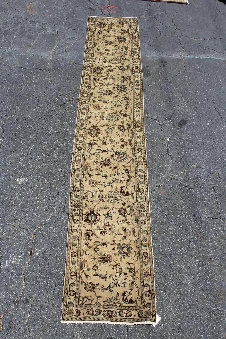 "2'7"" x 15'6"" Persian wool Tabriz runner"
