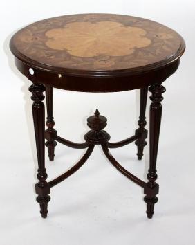 Italian floral marquetry gueridon table