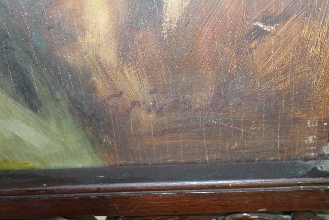 Oil on board seated nude - 4