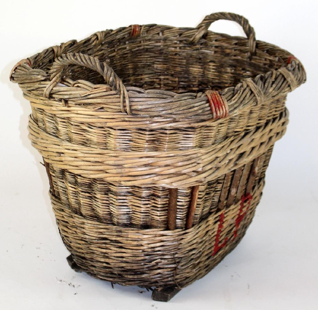 French wicker oval grape harvest basket - 2
