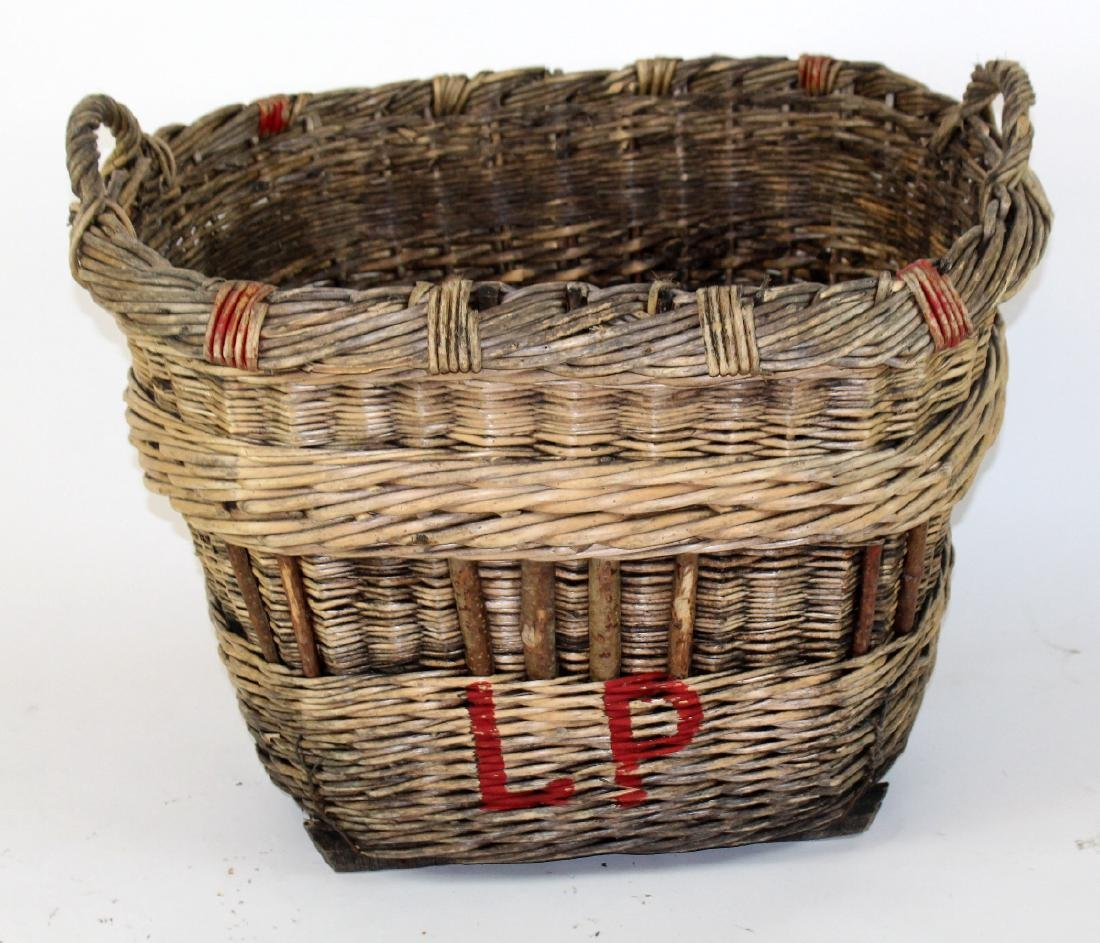 French wicker oval grape harvest basket - 3