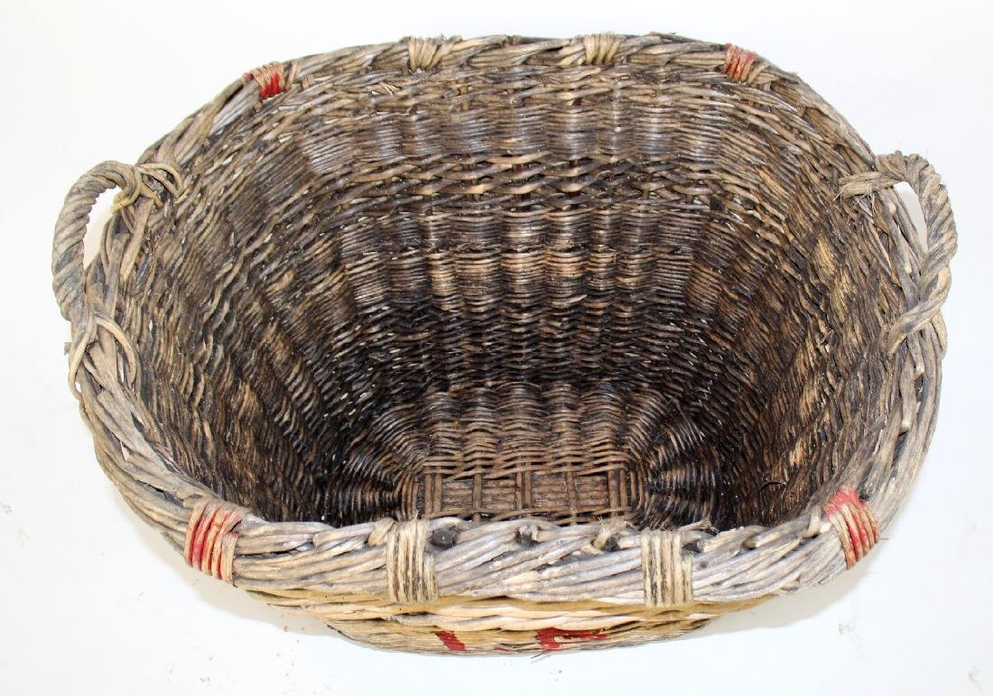 French wicker oval grape harvest basket - 4