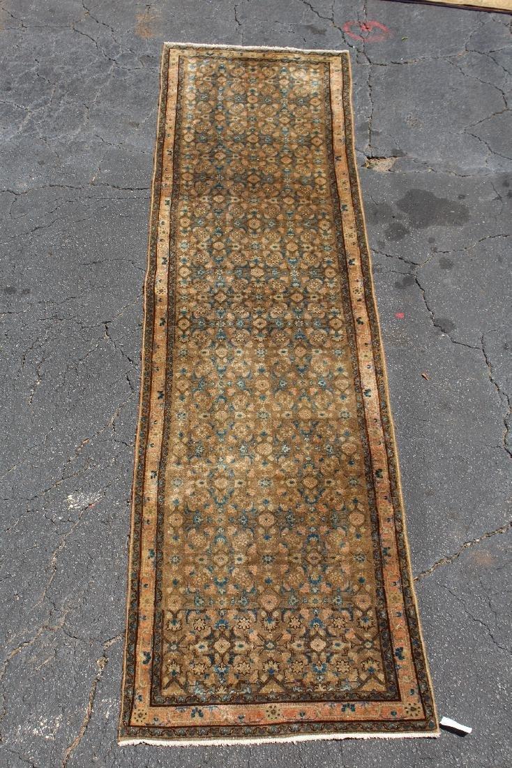 "3'4"" x 13' 8"" Persian wool runner"
