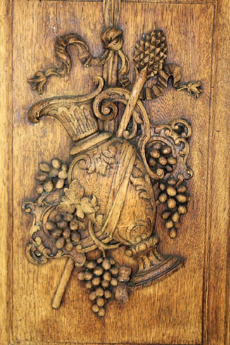 French relief carved oak panel - 3