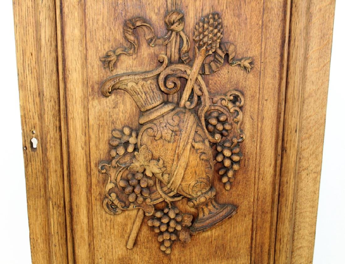 French relief carved oak panel - 5