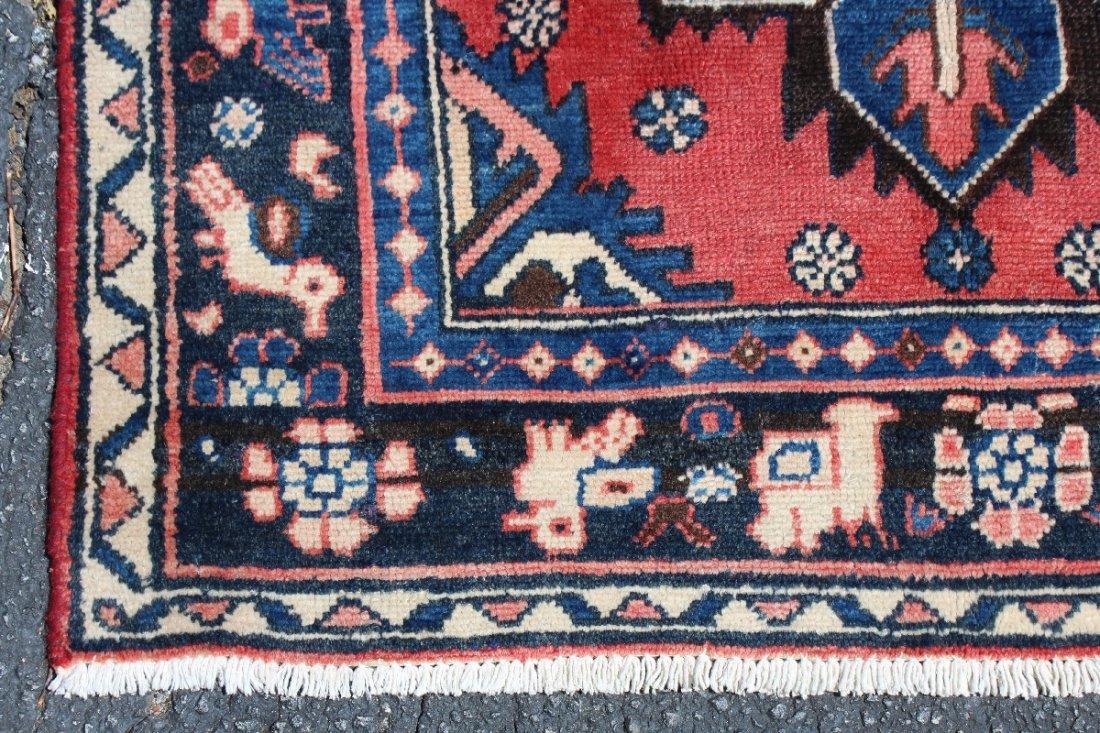 """3'4"""" x 10'7"""" Heriz Persian wool carpet - 3"""