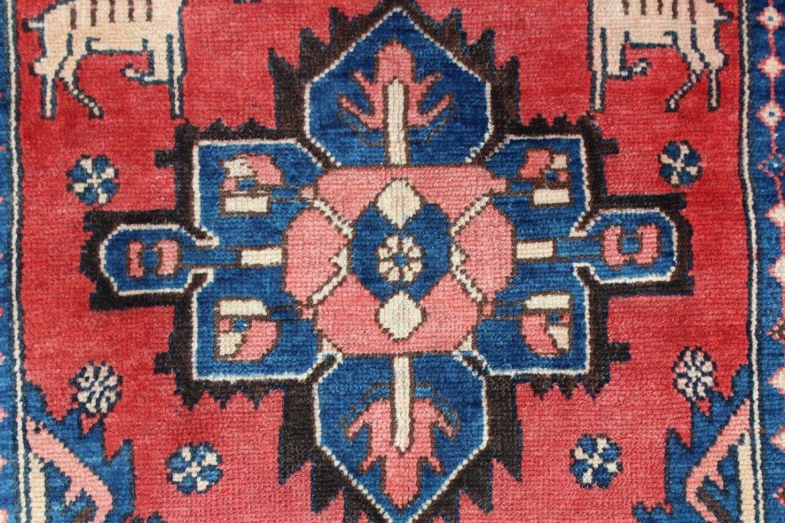 """3'4"""" x 10'7"""" Heriz Persian wool carpet - 4"""
