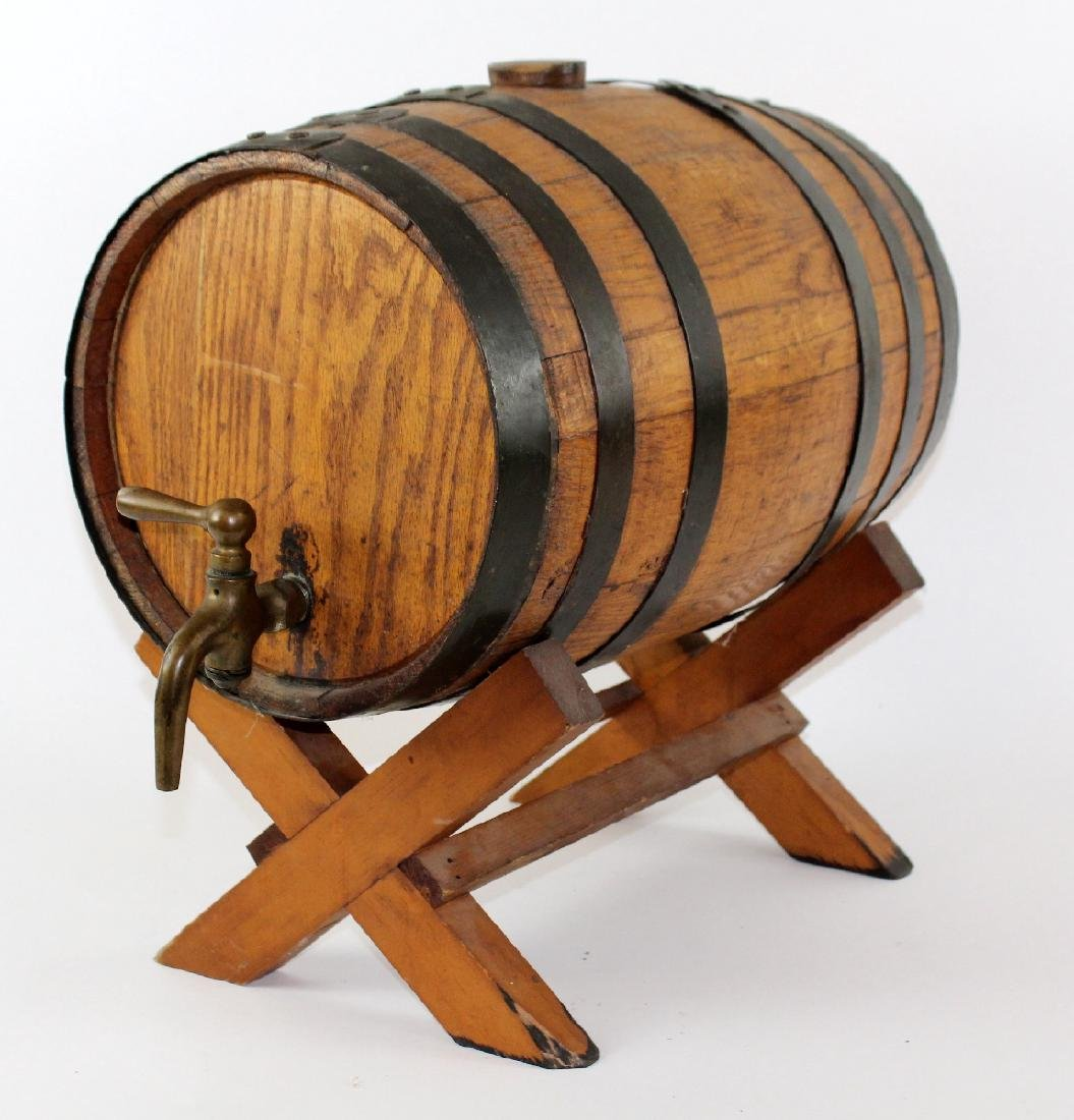 Oak barrel on stand