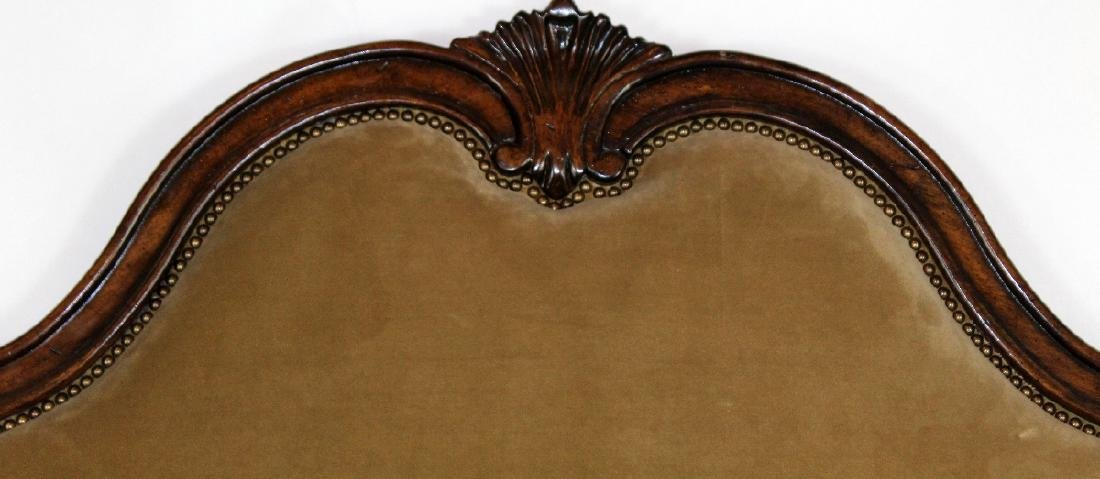 French Louis XV style high back upholstered bed - 2