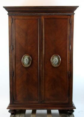 Ernest Hemmingway 2 door mahogany armoire