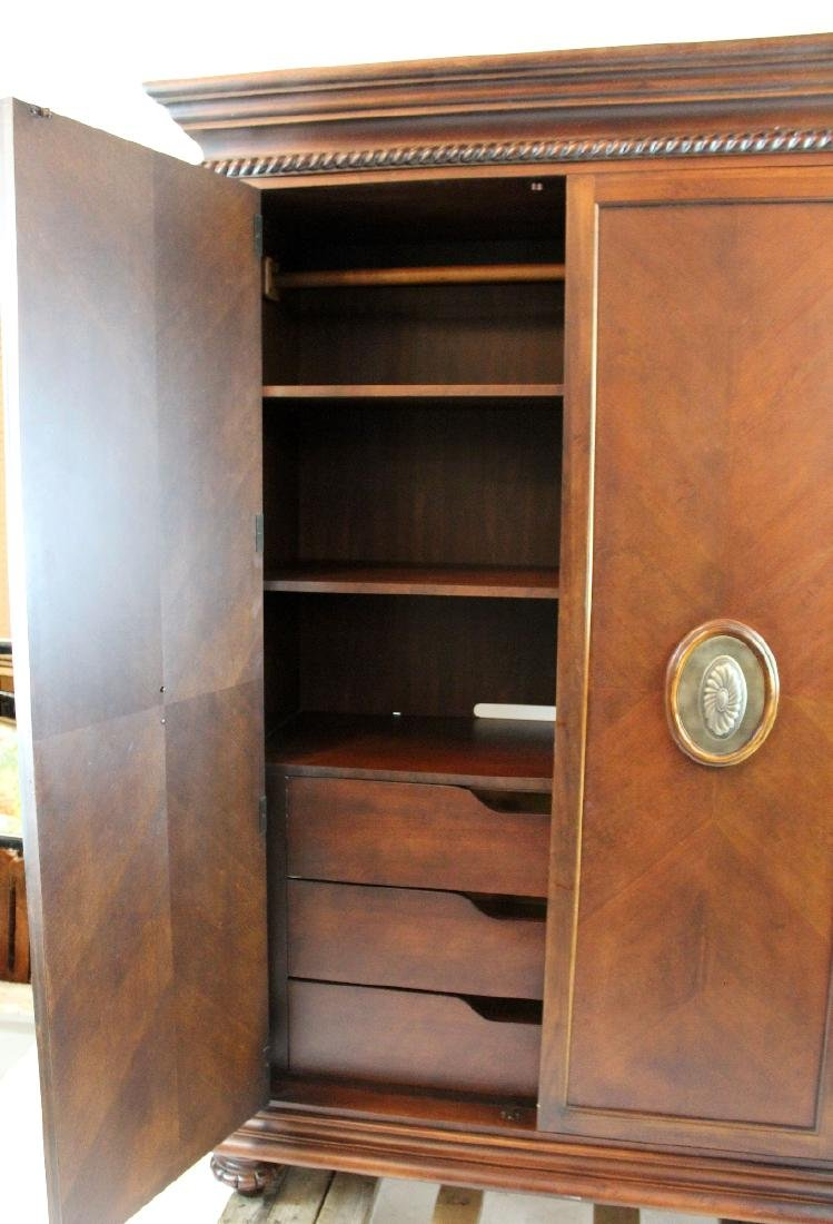 Ernest Hemmingway 2 door mahogany armoire - 2