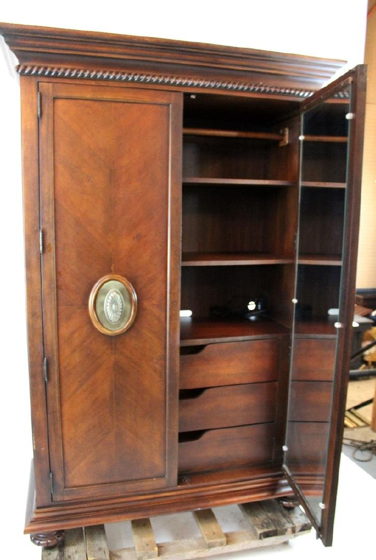 Ernest Hemmingway 2 door mahogany armoire - 3