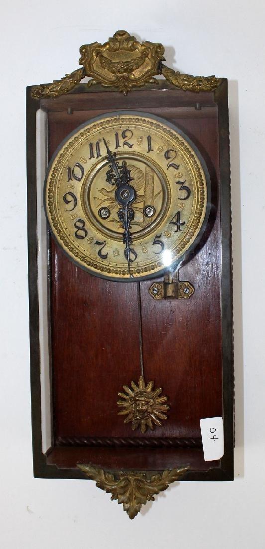 Victorian embossed brass clock