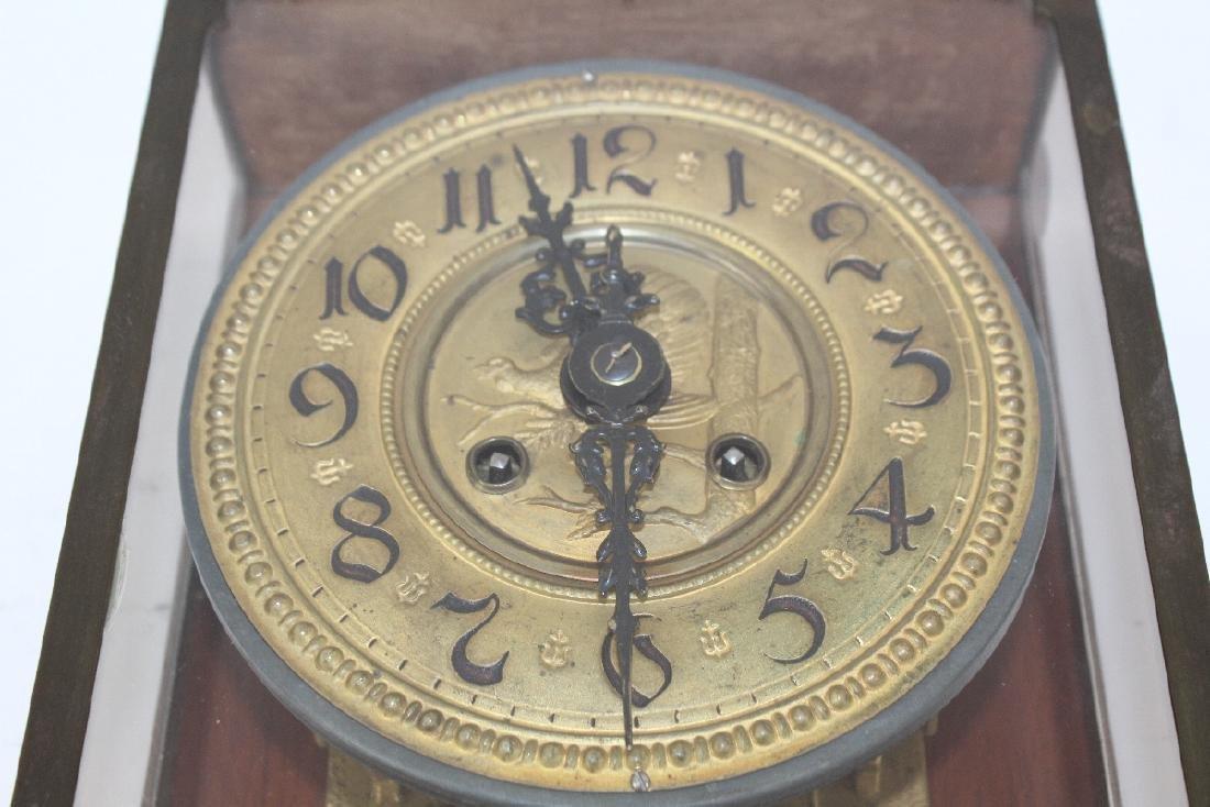 Victorian embossed brass clock - 2
