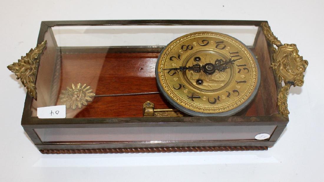 Victorian embossed brass clock - 3