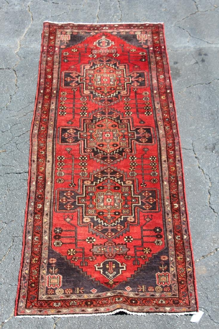 "3'8"" x 9'10"" Persian wool runner"
