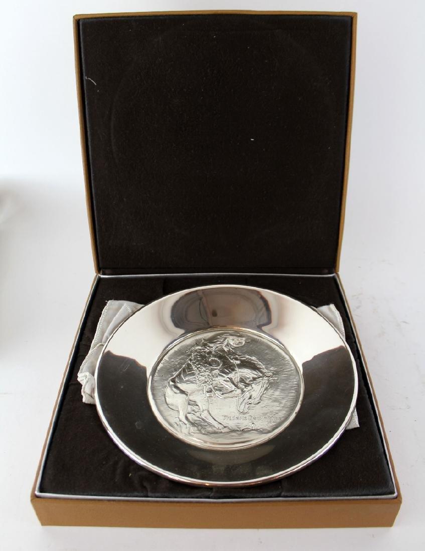 Frederic Remington Rattlesnake sterling silver plate