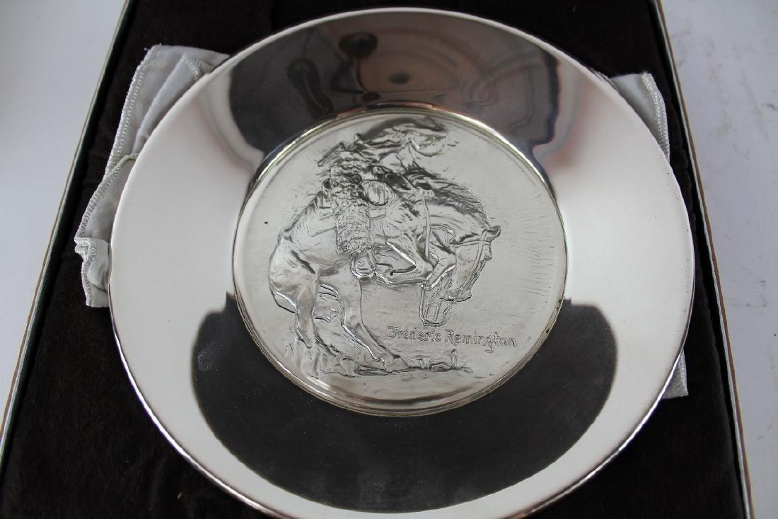 Frederic Remington Rattlesnake sterling silver plate - 3