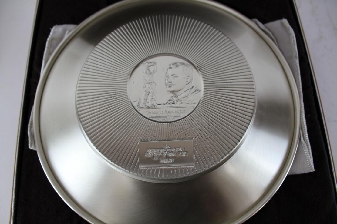 Frederic Remington Rattlesnake sterling silver plate - 4