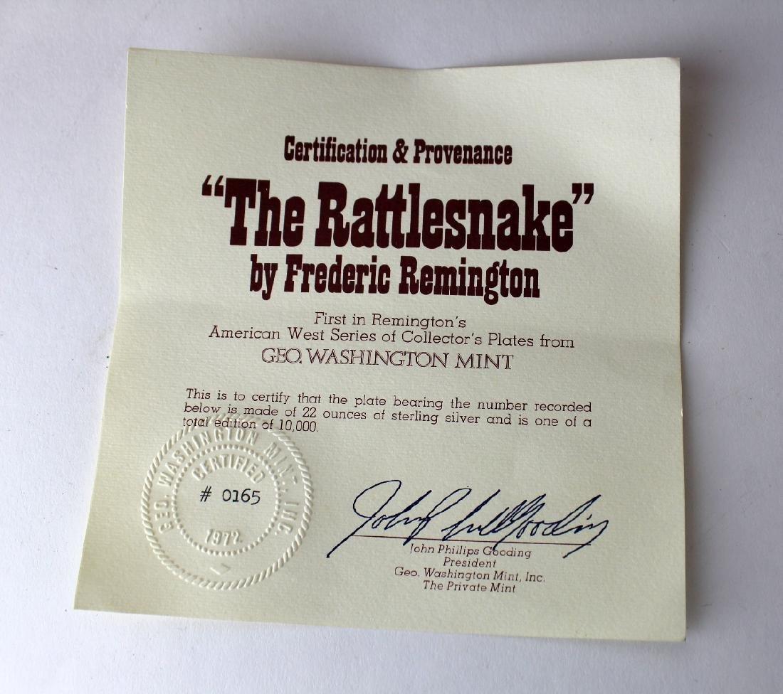 Frederic Remington Rattlesnake sterling silver plate - 5