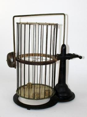 Vintage Chuck-a-luck Birdcage dice game