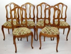 Set of 6 French provincial dining chairs