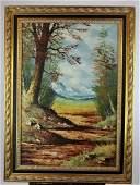E. Neuhold landscape scene on canvas