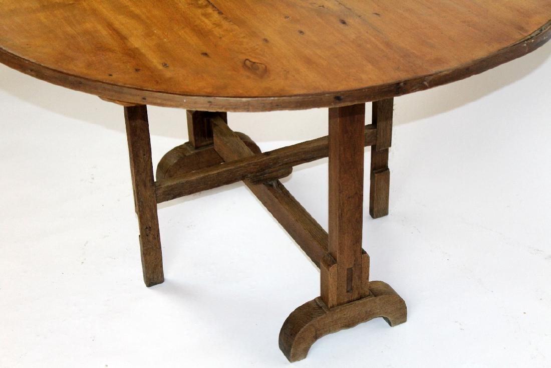 French Provincial vintners table in pine - 6