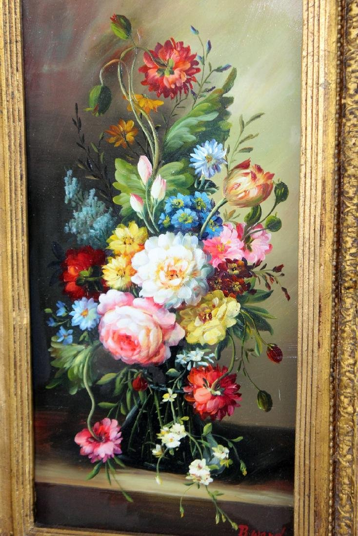 Oil on board stillife with flowers - 2