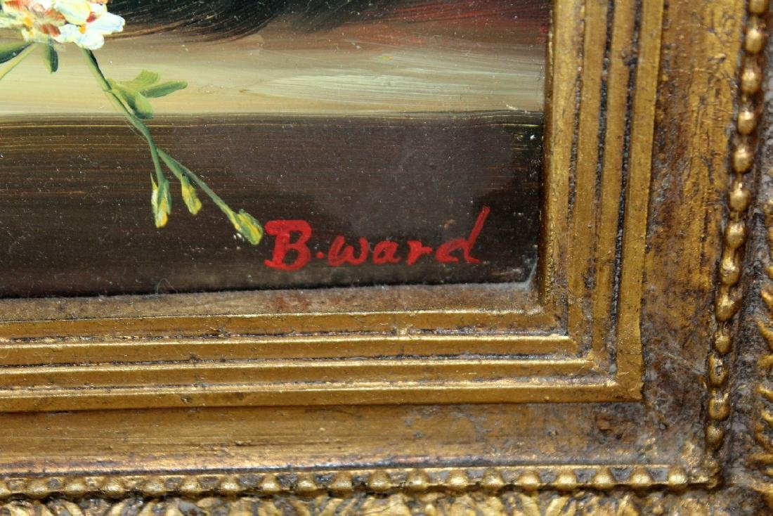 Oil on board stillife with flowers - 5